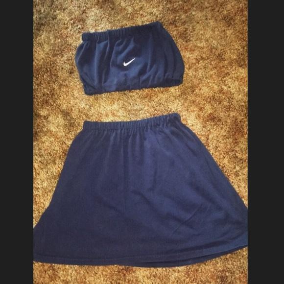 004e19847d6 Nike Skirts | Reworked Vintage Two Piece Set Navyblack | Poshmark